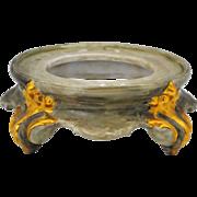 Hand Painted Porcelain Punch Bowl or Jardiniere Stand Base Pedestal T & V Limoges France