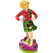 Royal Worcester Scotland Figurine Children of the World Series # 3104 F. G. Doughty