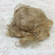 Antique Mohair blonde Sz 6 wig for small French or German Bisque doll
