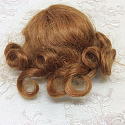 Small Mohair Wig Sz 5 for French or German Bisque doll