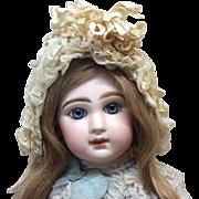 Exquisite Antique French Bonnet Jumeau Bru Steiner Bisque Doll