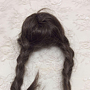 """Small 5-5 1/2"""" Bleuette or small Doll Size Human Hair Wig Bisque"""