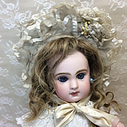 Smaller Antique Tulle Wired Bonnet for Jumeau Bebe French Bisque doll