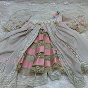 """Beautiful Vintage Dress for 20-24"""" French or German Bisque doll"""