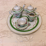 Tea for One! Vintage Small Set for French or German Bisque Dolls Or House