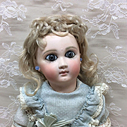 """1 over EJ Jumeau 10"""" Petite French Bisque Doll Sz 1"""