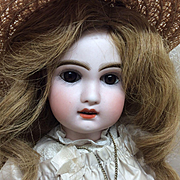 "Wonderful Tete Jumeau Bebe Reclaime Sz 6 French Bisque Doll 17"""