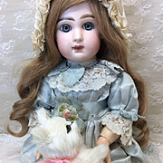 """Small Vintage Fur Kitten 6"""" for French or German Bisque doll display"""