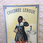 Vintage French Print Advertising Poster for Doll Room or Display