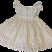 Wonderful Antique Victorian Whitework Dress for Bisque Doll