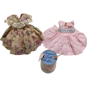 Two Early Muffie Dresses & Centersnap Shoes in Acetate Container