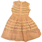 Beautiful Sheer Pink Little Girls Vintage Easter Spring Dress