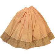 Beautiful vintage Doll Skirt Slip For Antique French Fashion Doll