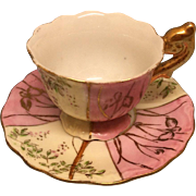 Beautiful Hand Painted Tea Cup & Saucer for French German Bisque Fashion Doll Display Med-Lg