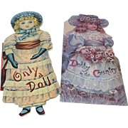 Two Vintage Doll Books Beautiful Illustrations Display Collector