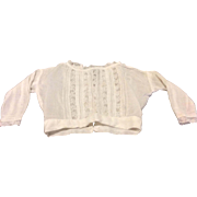Lovely Fine Lawn Blouse for Bisque Doll French German Fashion