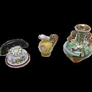 Vintage Porcelain Miniatures Bisque Doll House or Display