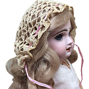 Bonnet for French or German Bisque Doll