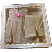 Vintage Organdy Slip & Pantalettes in Box Bisque Doll