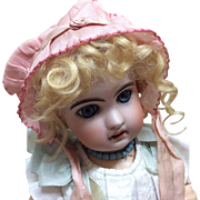 Antique Silk Bonnet for French or German Bisque Doll