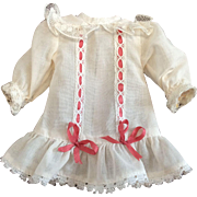 Tiny Drop Waist Dress for Small Bisque Doll
