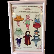 Vintage Emma the Pig Framed Paper Doll