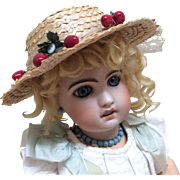 Old Straw Hat for Bisque Doll