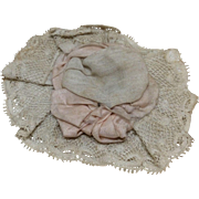 Small Early Lacy Hat for Bisque Doll Mignonette or all bisque