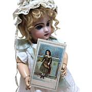 Authentic Victorian 1877 Card of Approbation for Bisque Doll Display