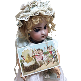 Beautiful Antique Victorian Advertising Card for Bisque Doll Display