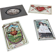 Collection of Victorian Cards & Photos for French German Bisque Doll Display