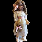 "Huge 30"" Handwerck DEP 109 German Bisque Doll Blue Eyes"