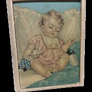 Effanbee Dydee Tiny Tears 1940's 50's Small Nursery Print