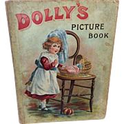 Vintage 1800's Dolly's Picture Book London England Bisque Doll Display