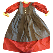 Large 2 Pc Artist Made Dress for Bisque Doll