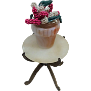 Miniature Flower Pot for Doll House Display