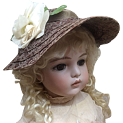 Beautiful Old Hat for Antique Bisque Doll
