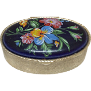 Small Enameled Hand Painted Box for French or German Bisque Doll Display