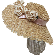 Lovely Woven Hat for Antique or Vintage Doll