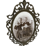 Lovely Small Italian Portrait Victorian Children for Doll Display