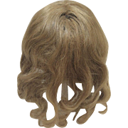 """Beautiful Antique Human Hair Blonde Wig 11"""" for Bisque Doll"""
