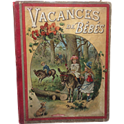 Beautiful 1880 French Book Vacances de Bebes Doll Display