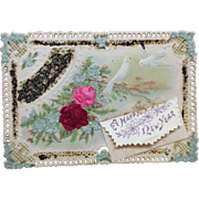 Gorgeous Victorian Die Cut Card for French or German Doll display