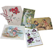 Collection of Child/Doll Themed Victorian Cards for Bisque Doll Display