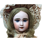 "On Hold for DW 22"" Sz 9 Jumeau Bisque Doll amazing Blue eyes"
