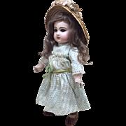 "Beautiful 14"" Antique Tete Jumeau Sz 5 French Bisque Doll"