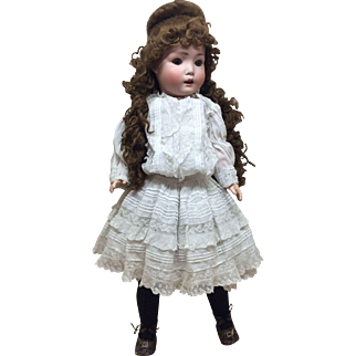 "Rare 25"" B5 Schoeneau Hoffmeister Character Child German Bisque Doll"