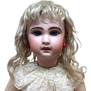 Antique Mohair Blonde Wig Sz 11-12 for French or German Bisque doll