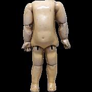 """Antique Jumeau Original Bebe Jumeau Diplome d'Honneur 14 1/2"""" Body"""