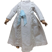 Original Antique French Pique Dress for Bisque Doll Jumeau Steiner FG Eden Bebe